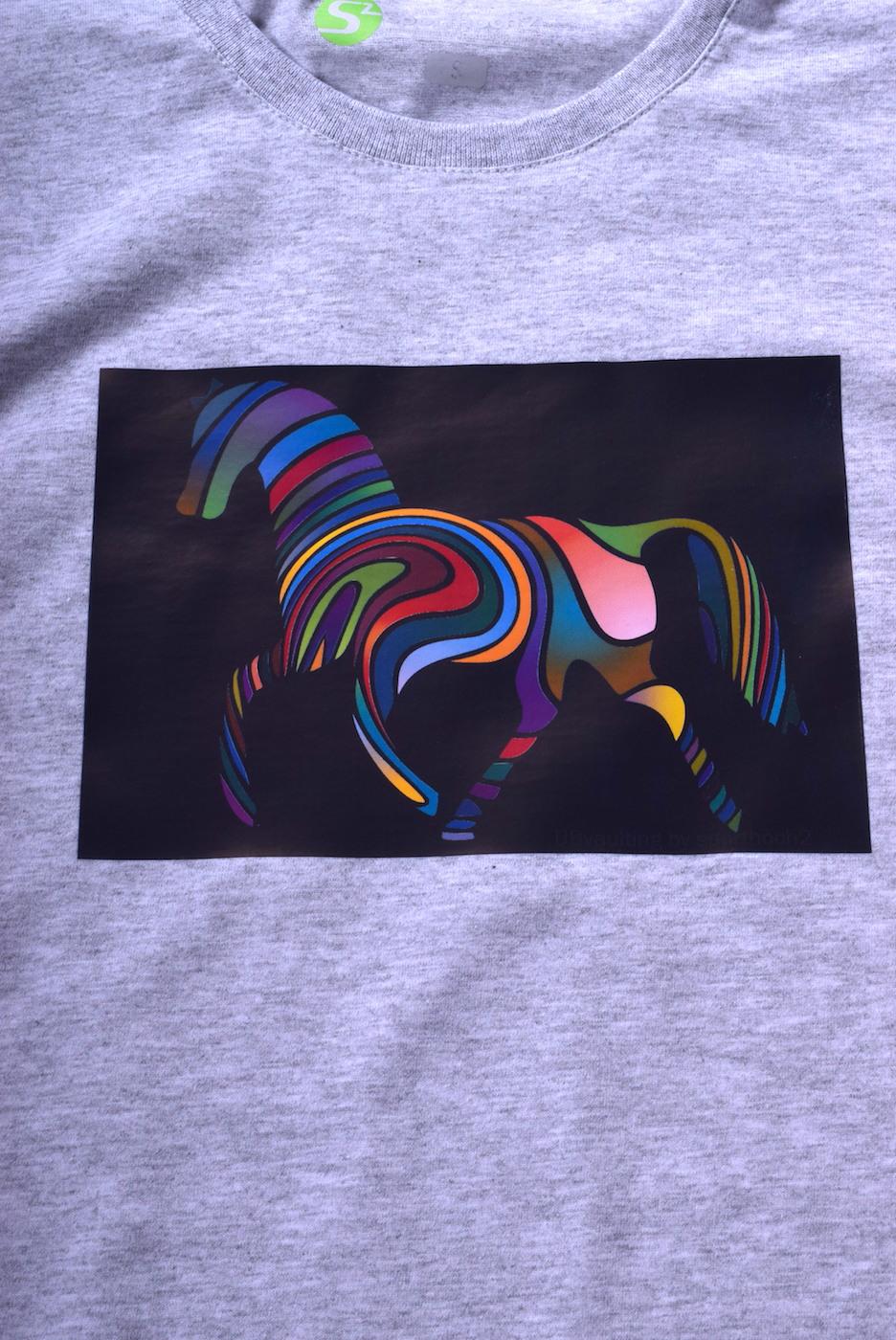 VAULTING - Rainbow horse