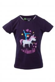 Kinder T-shirt marine blau Unicorn Volti