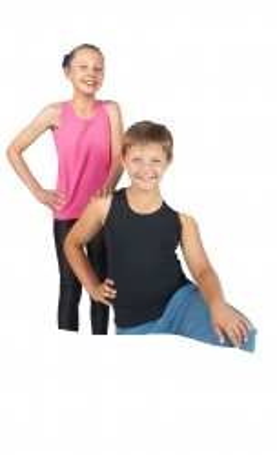 Kinder T-Shirts ärmellos / Tops - in 3 Farben - mit Rückenprint