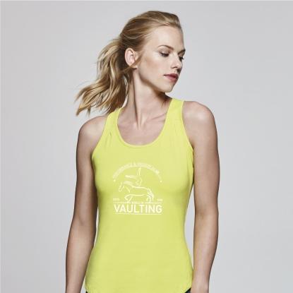 Frauen - Voltigier T-Shirt NADIA ärmellos - in 4 Farben - Front Print