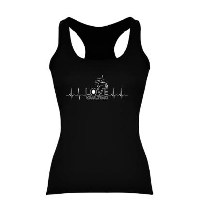 Frauen - Baumwoll TOP / Racerback mit Printmotiv Heartbeat - in 3 Farben