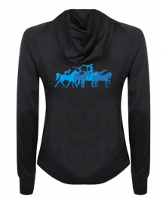 Frauen-Funktions-Jacke SLOGAN - Training/Running - BLUE VOLTIGE!