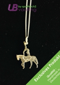 Silver Jewelry Pendant with Chain - Single Vaulter - style 001