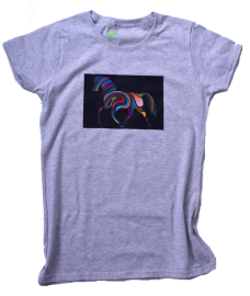 NEUES MOTIV- T-Shirt Rainbow Horse - Frauen