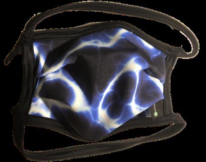 1er PACK / Mund-und Nasen-Maske -KIDS- Modell HI STD DESIGN /BLUE ILUMI - Sonderproduktion
