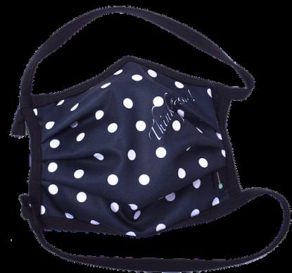 1er PACK / Mund-und Nasen-Maske - Modell HI STD DESIGN POLKA DOT - Sonderproduktion