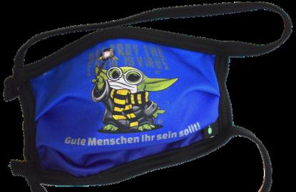 1er PACK / Mund-und Nasen-Maske KIDS- Modell HI STD DESIGN MASTER YODA - Sonderproduktion