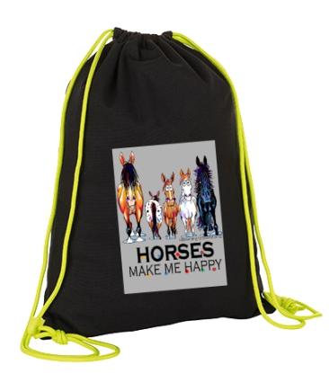 Voltigier Turnbeutel - Design HAPPY HORSES - Baumwolle
