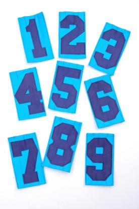 Einzel-Rückennummer - Spezial (Steppnummer)