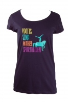 TEE Fashion Grafik Sporthelden Damen/ Teens - marine blau