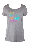 TEE Fashion Grafik Sporthelden Damen/ Teens - grey melange