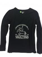 VAULTING Langarm T-Shirt mit College Print