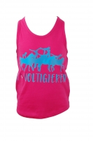 KIDS - Racerback Top in pink I love voltigieren