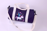 Sporttasche klein  Barrel bag   Motiv Unicorn