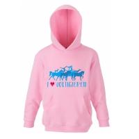 Hoody Sweatshirt I love Voltigieren! - für Kinder in 3 tollen Farben