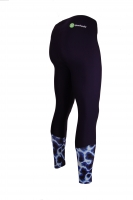 PREMIUM CUT Sportleggings Design ILUMI BLUE Herren