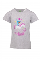 KIDS/Teens Grafik TEE - grey melange Unicorn Volti, Art.-Nr. UB-1135003