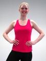 AKTIONSTOP Frauen - Voltigier T-Shirt Nadia ärmellos - in 4 Farben - Rücken-Print Motiv 1