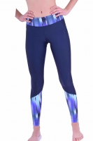 PREMIUM  CUT Sportleggings Design FADE OUT BLUE- Made in Germany