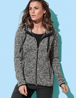 STED active knit fleece-jacket women