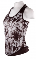 Frauen - 2in1 Sports-Top - Fitness/Training-Work-out - Design blackwhite
