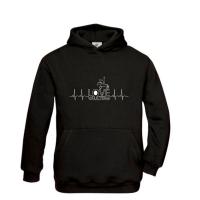 Hoody-Sweatshirt HERZSCHLAG - für Kinder + Erwachsene