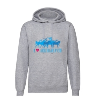HOODIE Sweatshirt I love Voltigieren! Erwachsene