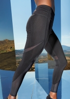 MESH COOL Sportleggings - PREMIUM Black