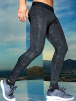 CAMOU BLACK Sportleggings MEN - PREMIUM Tight