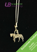Silver Jewelry Pendant with Chain - Single Vaulter - Art 001