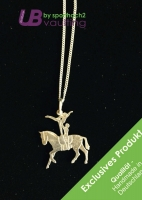 Silver Jewelry Pendant with Chain - Pas de Deux - Art 002