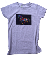 NEW GRAPHIC- T-Shirt Rainbow Horse - for sporty ladies