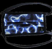 1er PACK / Mund-und Nasen-Maske - Modell HI STD DESIGN /BLUE ILUMI - Sonderproduktion