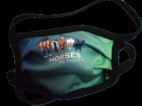 1er PACK / Mund-und Nasen-Maske KIDS- Modell HI STD DESIGN HAPPY HORSES - Sonderproduktion