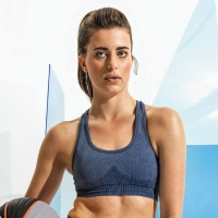 INDIGO DENIM Sports Bra SEAMLESS /Crop Top / Sport-BH / Fitness-Top