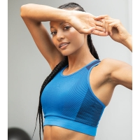 SPORTY Sports Bra SEAMLESS /Crop Top / Sport-BH / Fitness-Top - in 3 Farben