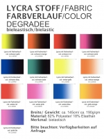 Lycrastoff / Farbverlauf - verschiedene Farbwege